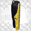 FIGHTERS - Kick-Boxing Hosen / Satin / Schwarz-Gelb / Medium
