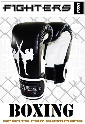 FIGHTERS - Boxhandschuhe / Giant / Schwarz / 12 oz